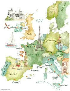 Map of the nations that i want to go there.. soon insyaAllah