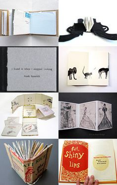 A nice collection of artists' books on Etsy