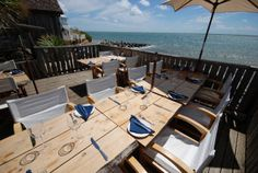 The Boathouse, seafood restaurant. Steephill Cove, Isle of Wight.    Best place on the isle for lunch on a sunny day.