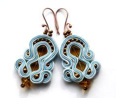 ray of light  soutache earrings  free shipping  by KimimilaArt