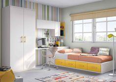 Juvenil con compacto zona de estudio y armario