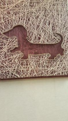 String Art Dachshund by PawtiqueCollars on Etsy