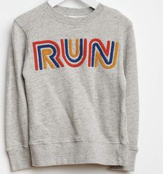 run graphic sweatshirt Hippie Style, My Style, Cool Graphic Tees, Country Shirts, Kids Prints, Kids Fashion, Fashion Design, Kids Wear, Sportswear