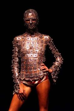 "2000: Shaun Leane's jewelled armour, made for Alexander McQueen's ""Eye"" collection"