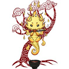 Dragon Tea is a T Shirt designed by Freeminds to illustrate your life and is available at Design By Humans