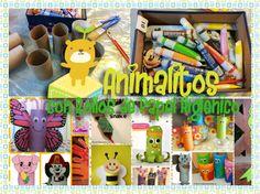 Animales hechos con rollos de papel higienico