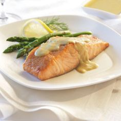 Salmon with Dijon Sauce.