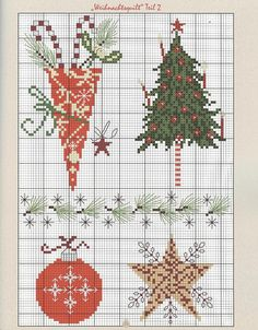 To be used alone or together. Christmas cross stitch. Repinned by www.mygrowingtraditions.com