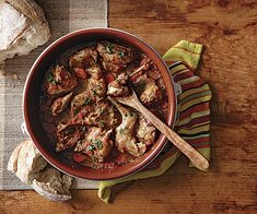 Catalan Braised Rabbit Recipe (Conill a la cassola) - Lean, mildly flavored rabbit is delicious when slow-cooked in a Catalan cassola (or cazuela, in Spanish) with tomatoes, carrots, almonds, and garlic. Adding a piece of the rabbit's liver is a traditional way of giving the dish deep, earthy tones.....