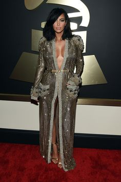Kim Kardashian | All The Looks From The 2015 Grammy Awards