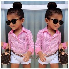 Now although she doesn't have lice this is a very cute lice protective style for your girls with long hair. I see you lil mama!