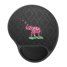 Retro Flower Elephant Pink Sakura Black Damask Gel Mouse Mats lowest price for you. In addition you can compare price with another store and read helpful reviews. BuyDiscount Deals          	Retro Flower Elephant Pink Sakura Black Damask Gel Mouse Mats Online Secure Check out Quick an...
