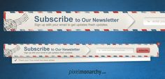 Newsletter Envelope Signup Pop Up #Form – #Free #PSD