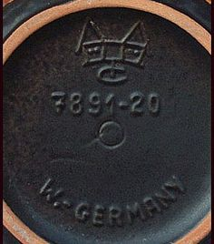 West German Pottery Companies and Marks