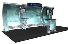 Titanium truss portable trade show display www.xibeo.com 805.604.4409