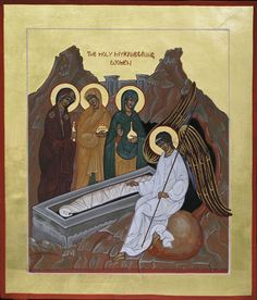 The Myrrhbearing Women by Colette Kalvesmaki Archangels, Orthodox Icons, Art