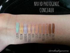 NYX HD Photogenic Concealer. I think 'Tan' and 'Porcelain' are just right for contouring and highlighting.