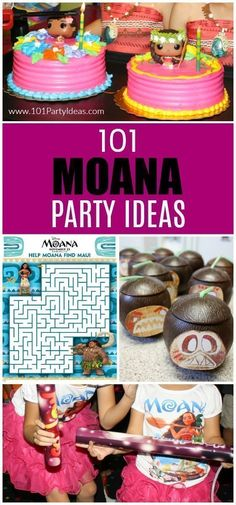 60 Ideas birthday party ideas for girls moana Outside Birthday Parties, 3 Year Old Birthday Party, Birthday Party Games, Luau Party, Birthday Ideas, Moana Birthday Party Ideas, Moana Birthday Decorations, Diy Party, Moana Theme Birthday