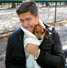 Fredrik Eklund from Million Dollar Listing New York with Fritzy. He's such a great goof ball