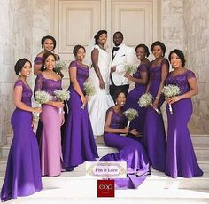 It has always been challenging when it comes to choosing bridesmaid dresses. The struggle to ensure their colour and style matches with the theme of the day is just enough… Essense Of Australia Wedding Dresses, Wedding Bridesmaid Dresses, Wedding Gowns, Wedding Outfits, Braids Maid Dresses, African Bridesmaid Dresses, Wedding Colors, Wedding Ideas, Royal Purple Wedding