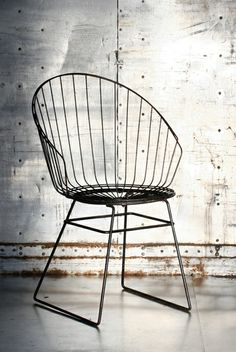 Cees Braakman; Enameled Metal Chair for Pastoe, 1950s.