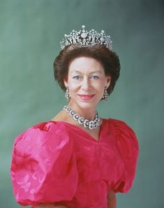 : Princess Margaret wearing the Poltimore Tiara