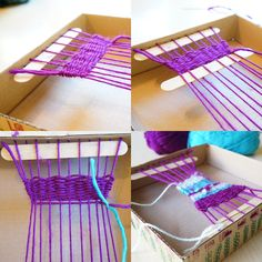 Box loom weaving - we have been meaning to do this FOREVER!