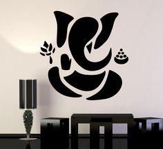 Vinyl Wall Decal Abstract Ganesha Hindu Hinduism Vedas God Stickers (ig3490)