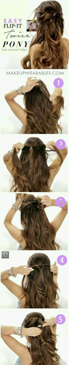 5 Minute Lazy Hairstyles for long hair tutorial for medium long hair 3 Amazingly Easy Back to School Hairstyles with Merged Braids Half Updo Hairstyles, Back To School Hairstyles, Pretty Hairstyles, Lazy Girl Hairstyles, 5 Minute Hairstyles, Updos, Great Hair, Hair Day, Gorgeous Hair