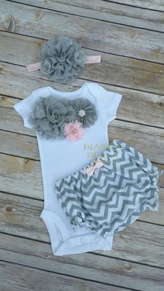 Pink And Gray Newborn Take Home Outfit Newborn Girl Outfit