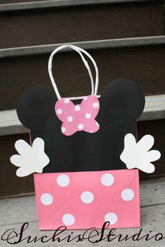 10 Rosa Minnie Mouse Goody bolsas/Minnie Mouse por SuchisStudio