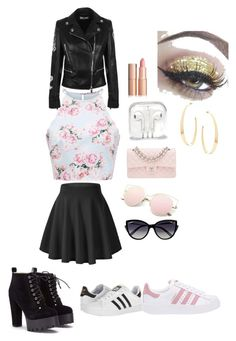 """""""on movie set outfit"""" by jensemussen11 ❤ liked on Polyvore featuring Versus, adidas, adidas Originals, Chanel, La Perla and Lana"""
