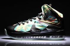 f96071b2b9c8 Nike Air Max LEBRON X REVERSE CHAMPIONSHIP CUSTOM Basketball Shoes For Men  in 96580 Kobe Shoes