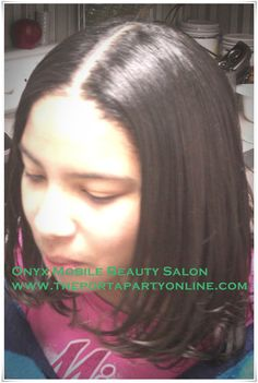 Flatiron on relaxed hair