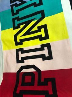 Rainbow Logo, Soft Blankets, Victoria's Secret Pink, Victoria Secret, Softest Blanket, Faux Fur, Bedding, Plush, Ebay