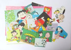 Peanuts vintage craft pack: 41 paper by PinkFlamingoEphemera