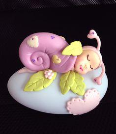 En stock : Veilleuse multicolore bébé escargot : Autres par syldeco