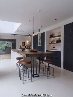 Kitchen island ideas for inspiration on creating your own dream kitchen. diy pai… Kitchen island ideas for inspiration on creating your own dream kitchen. diy painted small kitchen design – with seating and lighting