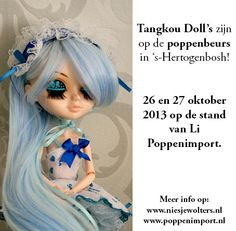 The Tangkou dolls will be in the largest Doll & Teddy bear fair in 's-Hertogenbosh on October 26th-27th this year.