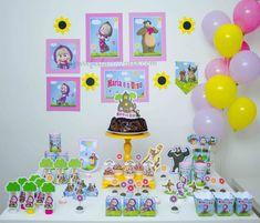 Masha Et Mishka, Maria Valentina, Marie Aristocats, Masha And The Bear, Beautiful Birthday Cakes, Bear Theme, Ideas Para Fiestas, Baby Shark, Baby Party