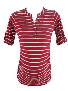 Ginny Tee in Red by Planet Motherhood Maternity - Maternity Clothing - Flybelly Maternity Clothing