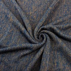 Navy Copper Sweater Knit Fabric - 1 Yard Style 6376