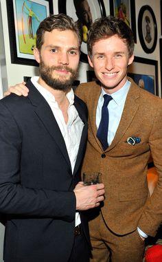 Jamie Dornan & Eddie Redmayne from Party Pics: 2015 Golden Globes | E! Online