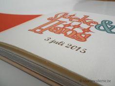 handgemaakt gastenboek, stijl Fifties, gepersonaliseerd voorblad