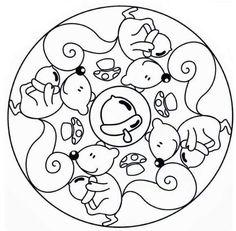 Fall Animals Coloring Pages Best Of Petit Mon Tardor Mandala Art, Mandalas Painting, Animal Coloring Pages, Colouring Pages, Adult Coloring, Coloring Books, Christmas Bazaar Crafts, Mandalas For Kids, Remembrance Day Art