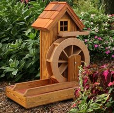 Merveilleux Large Poly Wood Water Wheel
