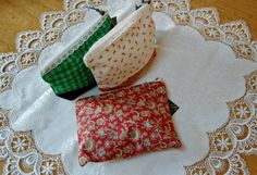 Vintage Eyelet Cosmetic Bags 5x7 by MistyMeadowTreasures on Etsy