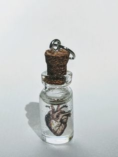Your place to buy and sell all things handmade Small Glass Bottles, Antique Illustration, Cork, Illusions, Silver Plate, Perfume Bottles, Delicate, Buy And Sell, Chain