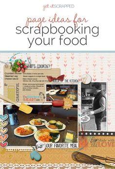 Ideas para álbumes de recortes página Su Alimentación |  Get It desguazado
