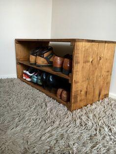 Shoe Rack Shoe organiser Shoe Storage reclaimed wood
